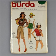 vintage retro symønster burda 67211